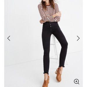 Madewell black high rise skinny jeans 25 PETITE